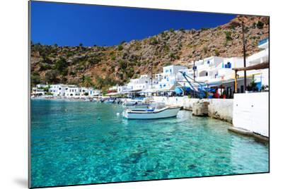 Greek Coastline Village of Loutro in Southern Crete- singidavar-Mounted Photographic Print