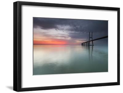Imagem Da Ponte Vasco Da Gama Ao Amanhecer- p_rocha-Framed Photographic Print