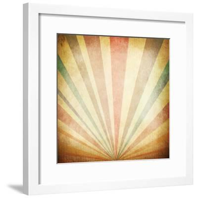 Vintage Sunbeams Background- oly5-Framed Photographic Print