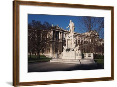 Statue of Mozart in Burggarten in Vienna-salparadis-Framed Photographic Print