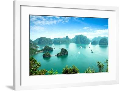 Halong Bay in Vietnam. Unesco World Heritage Site.-cristaltran-Framed Photographic Print