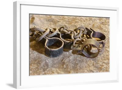 The Irons from Oubliette the Castle.-Ren?ta Sedm?kov?-Framed Photographic Print