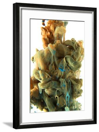 Ocher, Lihgt Army Green, Yellow Color Drop-sanjanjam-Framed Photographic Print