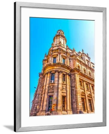 Old Buildings Atthe Center of Barcelona in Spain. HDR Processed-imagIN photography-Framed Photographic Print