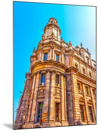 Old Buildings Atthe Center of Barcelona in Spain. HDR Processed-imagIN photography-Mounted Photographic Print