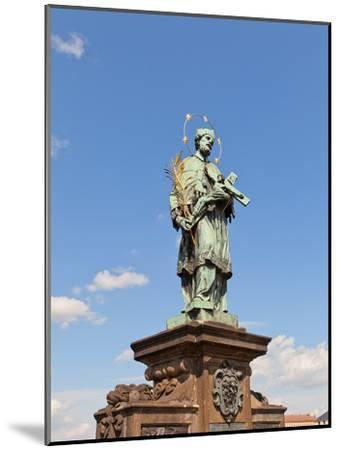 Statue of St. John of Nepomuk on Charles Bridge in Prague- joymsk-Mounted Photographic Print