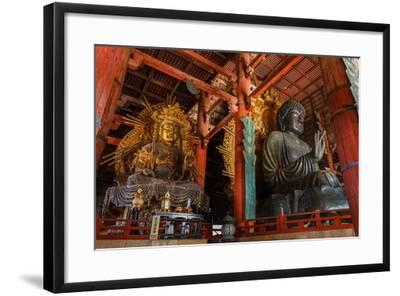 Daibutsu with Kokuzo Bosatsu at Todaiji Temple in Nara-coward_lion-Framed Photographic Print