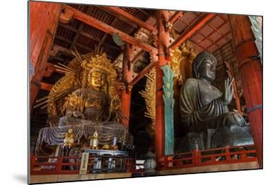 Daibutsu with Kokuzo Bosatsu at Todaiji Temple in Nara-coward_lion-Mounted Photographic Print