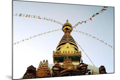 Buddhist Shrine Swayambhunath Stupa - Vintage Filter.-lora_sutyagina-Mounted Photographic Print