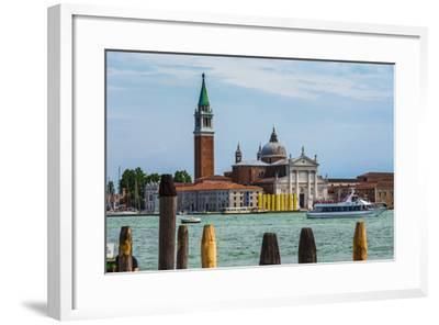 Gondolas Moored by Saint Mark Square-Oleg Zhukov-Framed Photographic Print