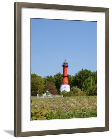 Old Light House in Rozewie on Baltic Sea Side-Maria Brzostowska-Framed Photographic Print