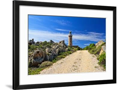 Road to Lighthouse - San Pietro Isle, Sardinia, Italy-Antonio Scarpi-Framed Photographic Print
