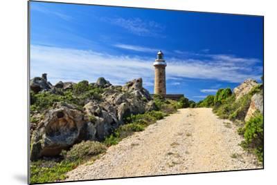 Road to Lighthouse - San Pietro Isle, Sardinia, Italy-Antonio Scarpi-Mounted Photographic Print
