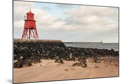 Herd Groyne Lighthouse in South Shields-Patrik Stedrak-Mounted Photographic Print