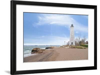 Five Mile Point Lighthouse in New Haven CT-beyond_a_snapshot-Framed Photographic Print