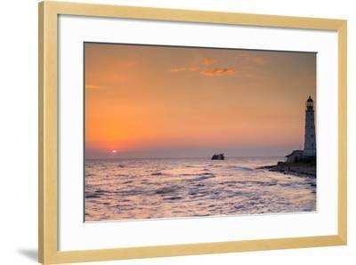 Sunrise and Lighthouse-sergejson-Framed Photographic Print