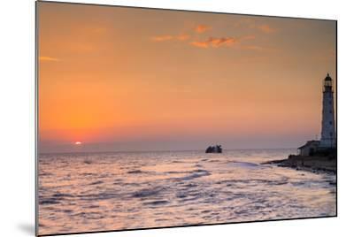 Sunrise and Lighthouse-sergejson-Mounted Photographic Print