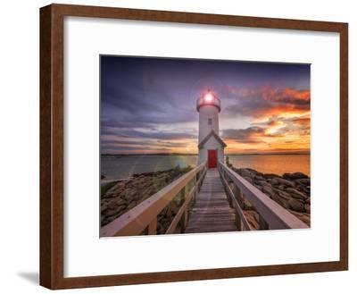 Lighthouse in Gloucester, Ma. USA-Christian Delbert-Framed Photographic Print