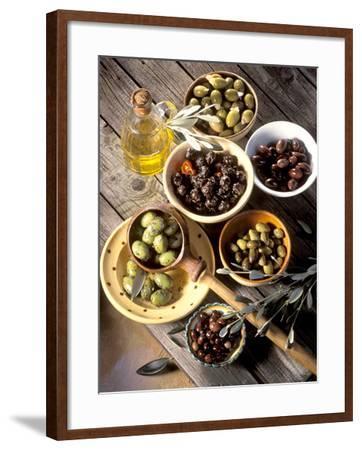 Olives in Bowls-Martina Urban-Framed Photographic Print