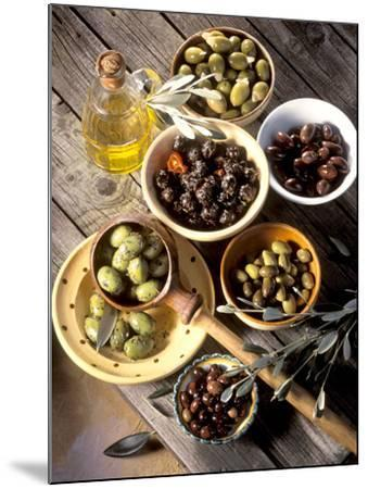 Olives in Bowls-Martina Urban-Mounted Photographic Print