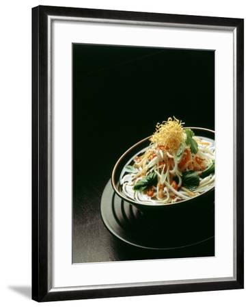 Japanese Noodle Soup (Miso Udon) with Fried Ginger-Frank Wieder-Framed Photographic Print