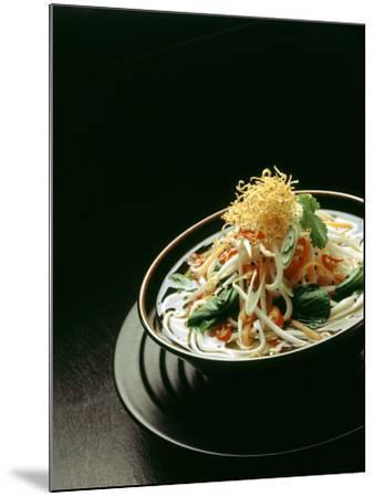 Japanese Noodle Soup (Miso Udon) with Fried Ginger-Frank Wieder-Mounted Photographic Print