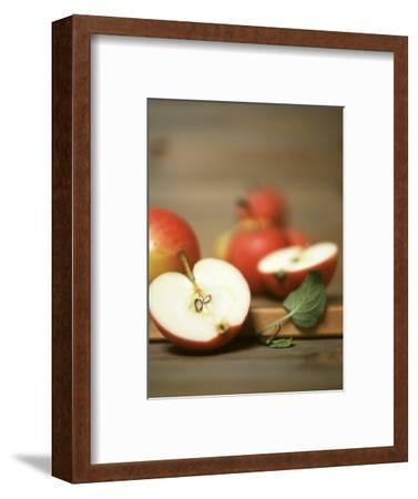 Several Apples, One Halved-Uwe Bender-Framed Photographic Print