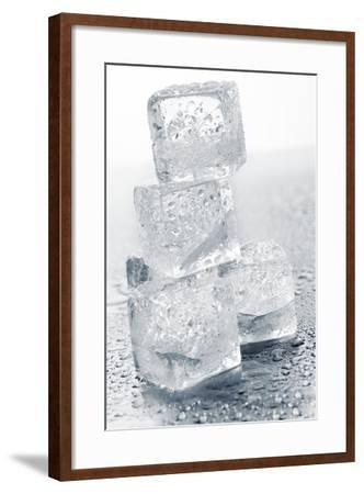 Ice Cubes in a Pile-Kr?ger and Gross-Framed Photographic Print