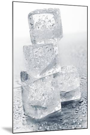 Ice Cubes in a Pile-Kr?ger and Gross-Mounted Photographic Print