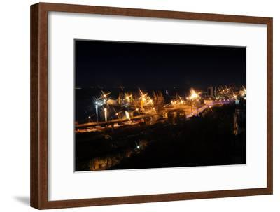 Night Port Odessa Ukraine-vector_master-Framed Photographic Print