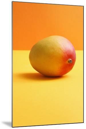 Mango on Coloured Background--Mounted Photographic Print