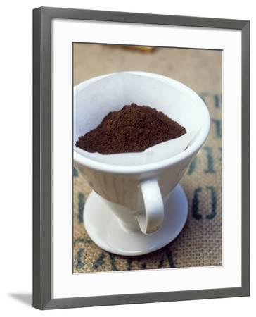 Ground Coffee in Filter-Sara Danielsson-Framed Photographic Print