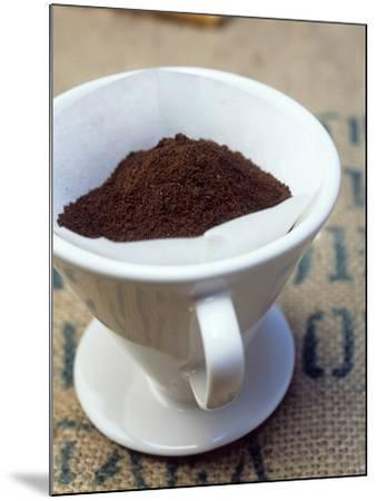 Ground Coffee in Filter-Sara Danielsson-Mounted Photographic Print