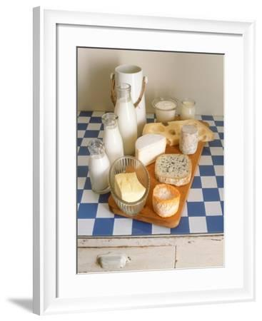 Still Life with Diary Products-Joerg Lehmann-Framed Photographic Print
