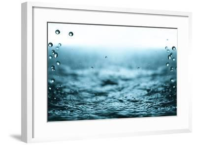 Rain Drops.-Janis Smits-Framed Photographic Print