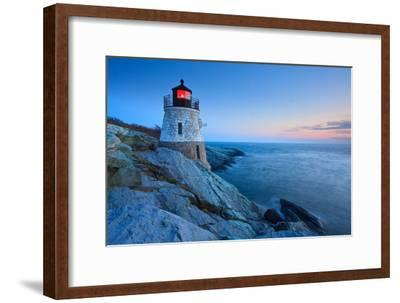 Castle Hill Lighthouse at Dusk-enfig-Framed Photographic Print