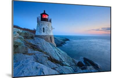 Castle Hill Lighthouse at Dusk-enfig-Mounted Photographic Print