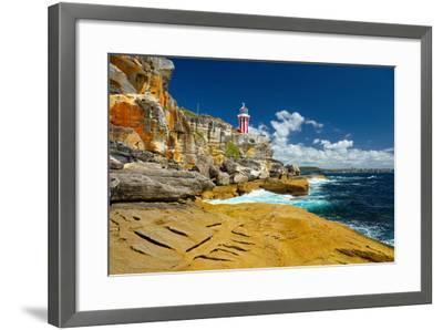 Sydney South Head Lighthouse. Australia.- Alvov-Framed Photographic Print