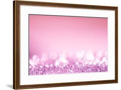 Pink Bokeh Circles Background.-Gamjai-Framed Photographic Print