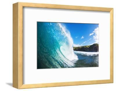 Blue Ocean Wave-EpicStockMedia-Framed Photographic Print