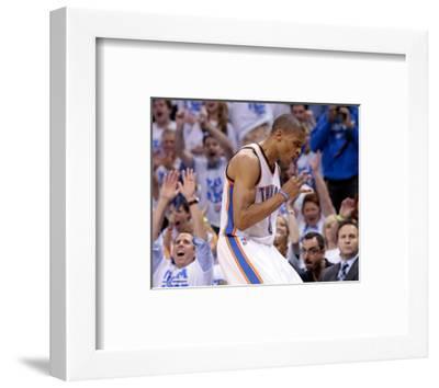 Oklahoma City, OK - June 2: Russell Westbrook-Brett Deering-Framed Photo