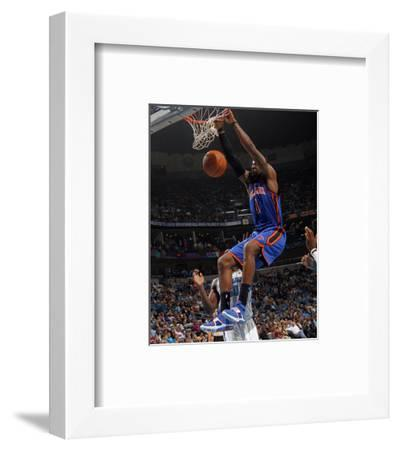 New York Knicks v New Orleans Hornets: Amar'e Stoudemire-Layne Murdoch-Framed Photo