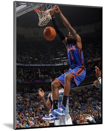 New York Knicks v New Orleans Hornets: Amar'e Stoudemire-Layne Murdoch-Mounted Photo