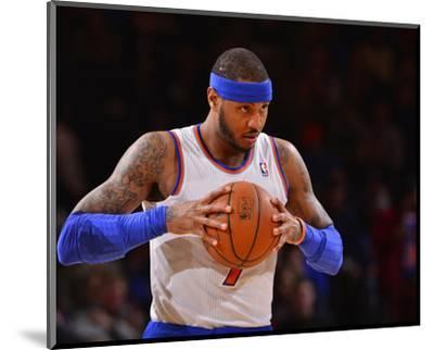 Jan 24, 2014, Charlotte Bobcats vs New York Knicks - Carmelo Anthony-David Dow-Mounted Photo