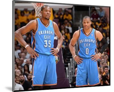 Mar 9, 2014, Oklahoma City Thunder vs Los Angeles Lakers - Kevin Durant, Russell Westbrook-Andrew Bernstein-Mounted Photo