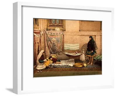 Persian Family in a House of Teheran--Framed Photographic Print