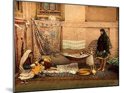 Persian Family in a House of Teheran--Mounted Photographic Print
