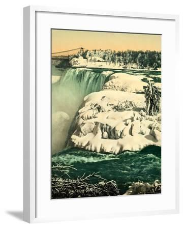 The Snow on the River Niagara--Framed Photographic Print