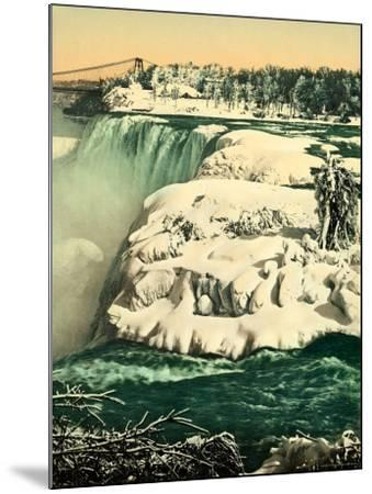 The Snow on the River Niagara--Mounted Photographic Print