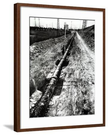 The Excavation for the Laying of the Aqueduct-A^ Villani-Framed Photographic Print